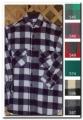 Mens Long Tail Wool Shirt - Green and Black Plaid