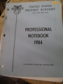 United States Military Academy Professional Notebook, 1984